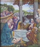 Domenico Ghirlandaio - Adoration of the Shepherds, copy