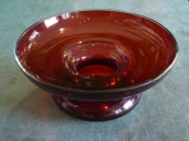 Bowl color of ruby glass