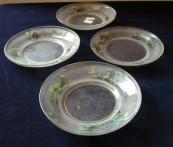 Glass painted dessert plates