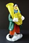 Clown with a tuba