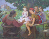 Emanuel Hosperger - Grandmother tells a tale for children