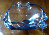 Bowl of free blown glass