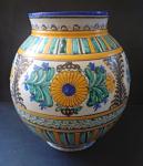Folk faience vase
