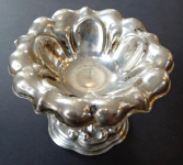 Lot's silver bowl on stem