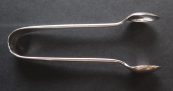 Silver sugar tongs - Chester, England