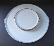 Round tray with saucers - Alt Rohlau, Franz Manka