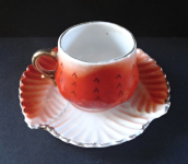 Cup and saucer-shaped leaf