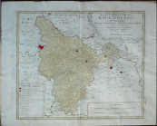 Kourim region of Müller's map of Bohemia