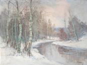 V. Novak - Birches at the river Berounka