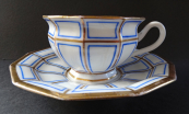 Cup and saucer with the date 1836