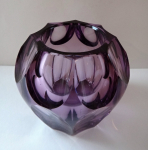 Small purple vase - Moser