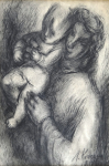 Milena Komrsova - Mother with child