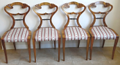 Four chairs with fans - Biedermeier