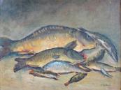 Jozka Rysava - Kacirkova, Still Life with Fish