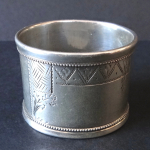Silver napkin ring - Latvia