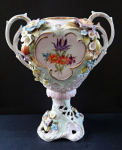 Vase with embossed flowers and fruits - Plauen