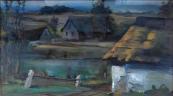 Vilem F. Stanek - Hauk, Pond in the village