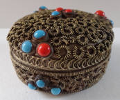 Brass box with beads
