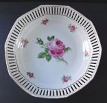 Bowl with cut edges and roses - Arzberg