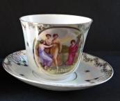 Big cup with saucer - Karlsbad