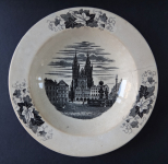 Plate with the motif of Tyn Church - Alt Rohlau