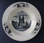 Plate with the motif of Tyn Church - Alt Rohlau