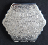 Silver Monogrammed powder box