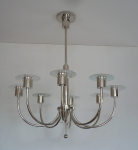 Functionalist chandelier with eight arms