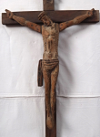 Christ on the Cross in Romanesque Style