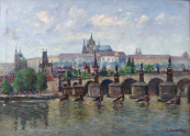 Josef Homolka - Charles Bridge and Prague Castle
