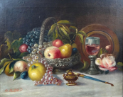 G. Riedler - Still Life with Fruit, Bowl and Cup