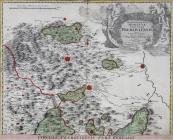 Johann Christoph Müller - Map of Prerovsko, North