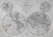 Johann Walch - Map of the globe with hemispheres