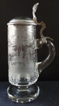 Tankard with deer and doe - pewter lid