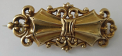 Biedermeier gold brooch in the shape of bows