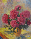 Alois Bilek - Bouquet of peonies