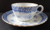 Cup with saucer - light blue