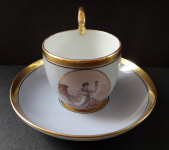 Cup with miniature girl - Vienna and Pirkenhammer