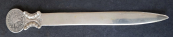 Silver letter opener with coin