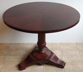Round folding mahogany table - Biedermeier