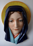 Colorful ceramic hanging madonna