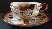 Porcelain cup with geisha