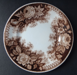 Brown pottery plate - Amberg