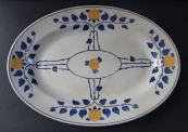 Oval Art Nouveau Bowl - Villeroy & Boch, Dresden