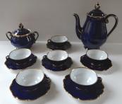 Cobalt Gilded Coffee Service - Schlaggenwald