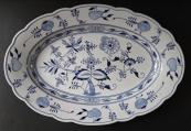 Oval bowl, original onion pattern - Klösterle