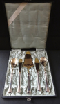 Silver cutlery in a box