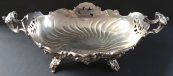 Silver bowl in Rococo style