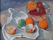Jaroslav Vachal - Still-life with oranges and apples