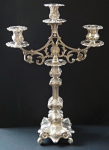 Silver plated candelabra of two parts - Biedermeier
